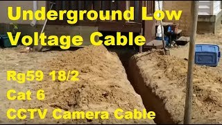 Underground Low Voltage Camera Cable Installation (BNC Siamese Cable & Cat6)