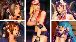 All Characters Reacting to Terry Bogard's Transformation in SNK Heroines: Tag Team Frenzy (4k HD)