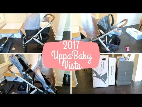 2017 UPPABABY VISTA + RUMBLE SEAT + MESA CAR SEAT UNBOXING & FIRST IMPRESSION