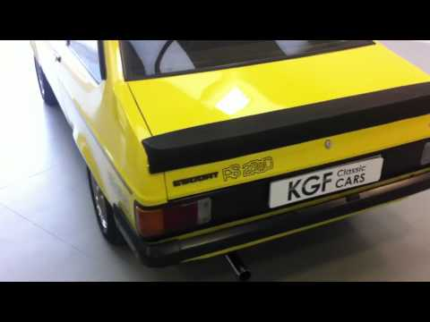 Remarkable Ford Escort RS Custom, Signal Yellow, History, **SOLD**
