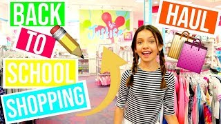 Back To School Clothing Shopping Haul Vlog At Justice