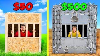 $50 vs $500 Prison Boxes! *FIRST TO ESCAPE WINS*