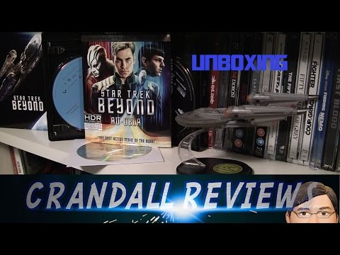 STAR TREK BEYOND 4K Ultra HD/3D/2D bluray Amazon Gift Set Unboxing