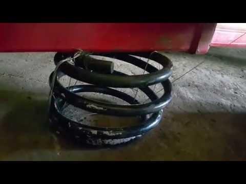 Замена пружины амортизатора без съемников BMW E46