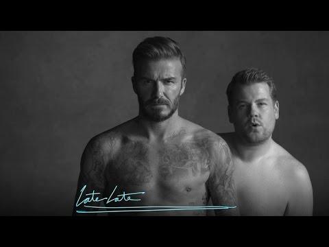 David Beckham and James Corden's New Underwear Line (видео)