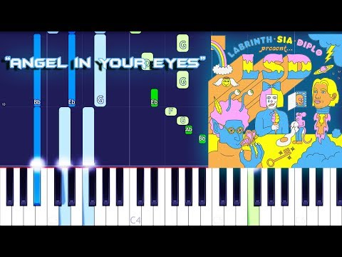 LSD - Angel In Your Eyes (Piano Tutorial) Feat. Sia, Diplo & Labrinth