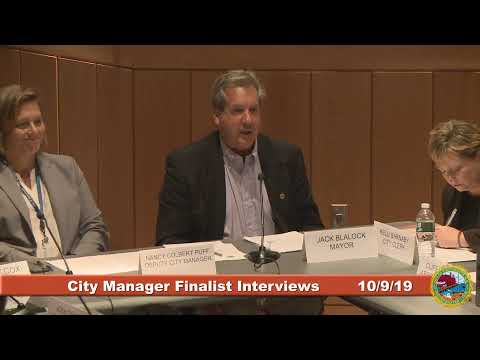 City Council City Manager Finalist Public Interviews 10.9.2019