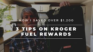 How to Maximize Kroger Plus Shoppers Card Fuel Rewards - 3 Tips / Strategies