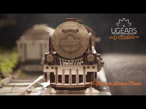 Ugears Lokomotive V-Express mit Wagon