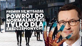 CYRK !! Ważne słowa premiera Morawieckiego o szybkim powrocie do normalności!