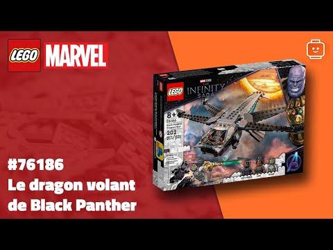 Vidéo LEGO Marvel 76186 : Le dragon volant de Black Panther