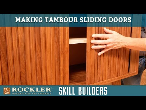 How to Make a Sliding Tambour Door