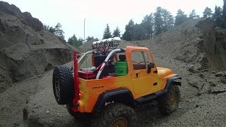 preview picture of video 'Tamiya CC01 Jeep Wrangler RC scale 4x4'