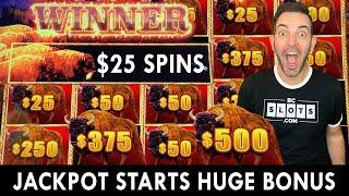  BUFFALO JACKPOT on $25 SPINS 