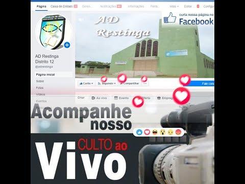 Live Culto Ao Vivo  Assembleia Distrito 12 Restinga Porto Alegre rs