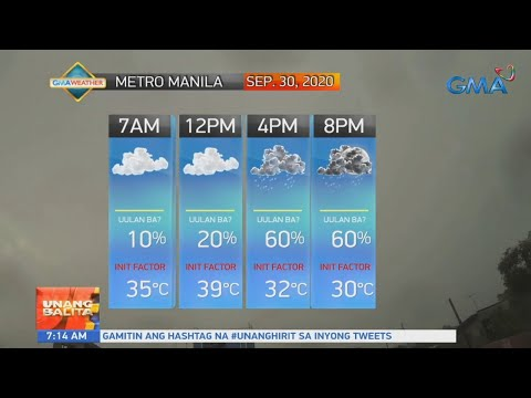 UB: Weather update as of 7:14 a.m. (September 30, 2020)