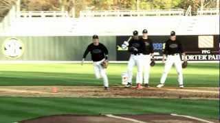 Tagging Drills with Vanderbilt Baseball coach Tim Corbin and ATEC machines