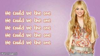 Hannah Montana - He Could Be The One (Lyrics Video) HD