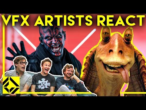 VFX Artists React to THE PREQUELS Bad & Great CGi