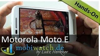 Erste Eindrücke des Motorola Moto E im Hands-On-Video