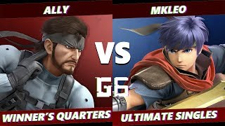 Glitch 6 SSBU -  FOX MVG | MKLeo (Ike) VS  Ally (Snake) Smash Ultimate Winner's Quarters
