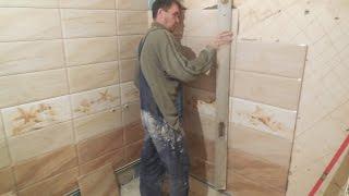 УКЛАДКА плитки в ванной УГОЛ 90 ° КАК класть плитку УГЛЫ 90 °