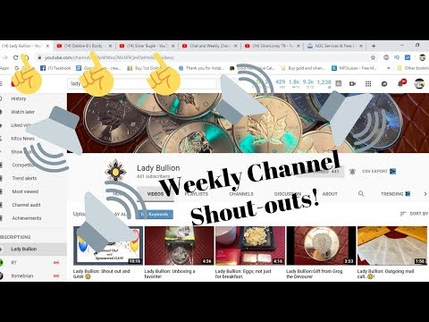 Chat and Weekly Channel Shout-outs!