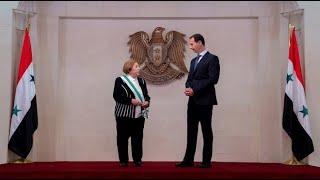 الرئيس الأسد يقلد مديرة الهيئة العامة لمدارس أبناء الشهداء وسام الاستحقاق السوري من الدرجة الممتازة