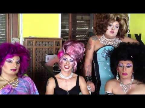 Le Drag Queen sul set del video degli Shakers