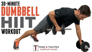 30 Minute Dumbbell HIIT Workout   Strength And Cardio In One Amazing Workout