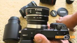 Canon EF Lens To Sony NEX Camera Adapter - Aperture And Image Stabilization - Not Metabones