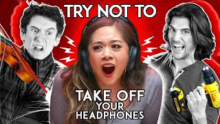 Try Not To Take Off Your Headphones Challenge | SIBLING vs. SIBLING