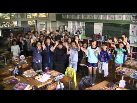 嬉野小学校のいろんなところで6年2組のゆっつらくん健康体操踊ってみた