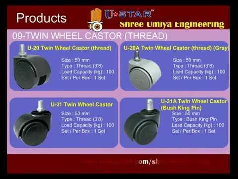 Twin Wheel Plate Caster