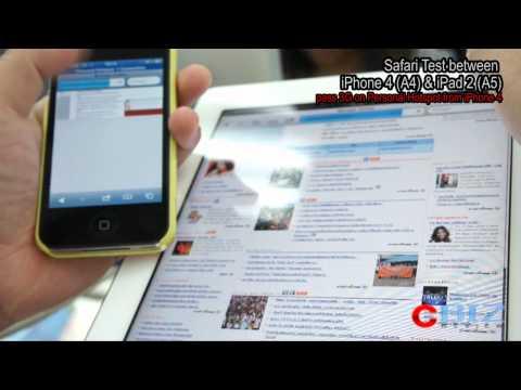 Safari Test Between iPhone 4 & iPad 2