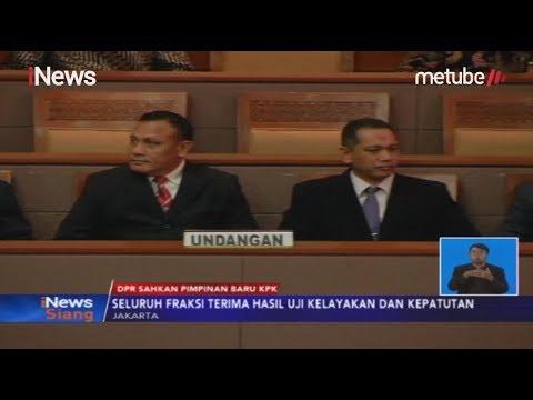 DPR Resmi Sahkan Lima Pimpinan KPK Terpilih - iNews Siang 17/09