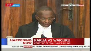 Court of Appeal delivers ruling on appeal by Martha Karua challenging election of  Anne Waiguru
