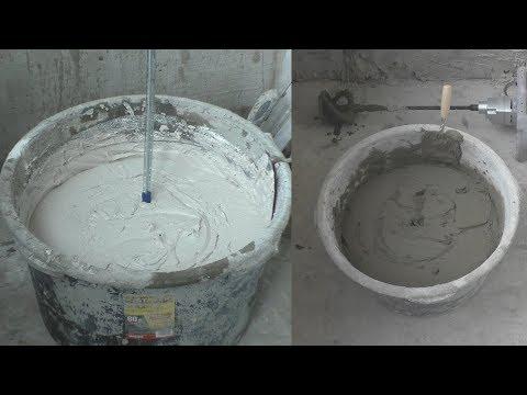 Тонкости работы со штукатуркой.Сравнение гипсовой и цементной. Контактный слой. Бетонконтакт