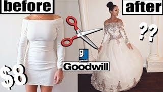DIY THRIFT STORE WEDDING DRESS MAKEOVER!