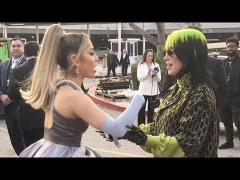 Ariana Grande & Billie Eilish Grammy's Moments