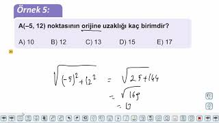 Eğitim Vadisi 11.Sınıf Matematik 6.Föy Analitik Düzlem 1 Konu Anlatım Videoları