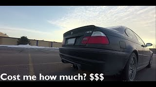 E46 M3 Cost of ownership for 2 years