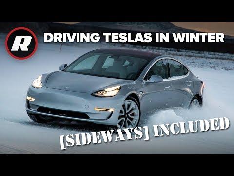 Zvládne Tesla jízdu na sněhu?