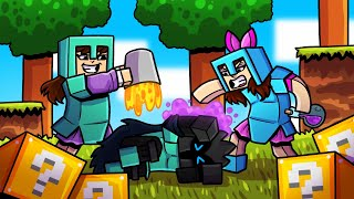 Minecraft: ME AND ELENI VS PAT IN LUCKY BLOCK HUNGER GAMES!