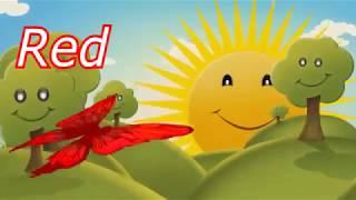 Умный Мультик про цветных бабочек  Развивающее видео для малышей на английском языке про цвета 1