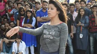 college girls vs boys dance competition lucknow | Lucknow university up