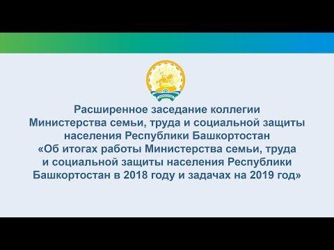 Расширенное заседание коллегии Министерства семьи, труда и соцзащиты населения РБ (28.02.2019)