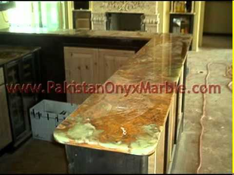Pakistan Onyx Kitchen Countertops White Onyx Dark Green Onyx Kitchen  Countertops.mpg. Onyx Is Becoming A Hot Selection For Kitchen Countertops  Nowadays.