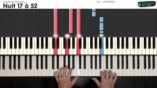 Nuit 17 à 52 - Christine and the Queens - [Tutorial Piano] (synthesia) - S