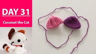 Crocheting the second ear + MORE || 100DaysOf10MinuteCrochet || Day 31
